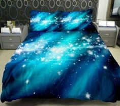 Galaxy Quilt Cover Galaxy Duvet Cover Galaxy Sheets Space Sheets Outer Space…