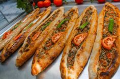 Pide / Turkish food --- She travels to Istanbul,Turkey where she shows and informs the reader of the many great foods of Turkey --- A food lovers paradise ---- A Food, Good Food, Food And Drink, Yummy Food, Lebanese Recipes, Turkish Recipes, Eastern Cuisine, Calzone, Middle Eastern Recipes