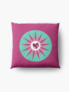"""""""Hearts and Stars in pinks"""" Floor Pillow by Mandsred1 