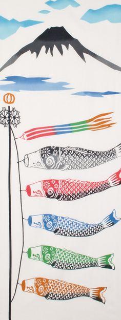 Japanese washcloth, Tenugui[和布華]手ぬぐい鯉のぼり