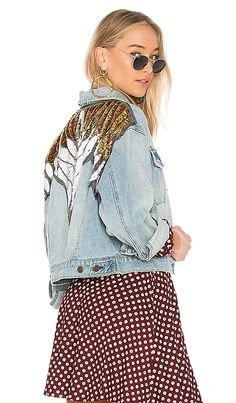 Shop for Free People Glam Embellished Denim Jacket in Indigo Blue at REVOLVE. Free 2-3 day shipping and returns, 30 day price match guarantee.