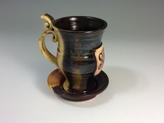 Custom Monogrammed Whimiscal Tea Cup and by HollowedEarthPottery, $20.00