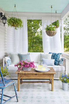 "And don't forget about your outdoor rooms. Treat you porch, patio, balcony, and deck with the same attention to detail as the rest of your home. I love the pretty view of my backyard from the kitchen and family room, so I always try to ""make it nice!"""