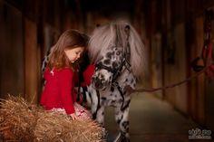 little girl & horse
