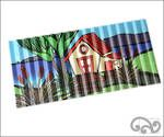 "Corrugated iron art print. ""The Bach"""