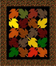 October Leaves Baby Quilt pattern $6.50 on Craftsy at http://www.craftsy.com/pattern/quilting/home-decor/october-leaves-baby-quilt-pattern/57030