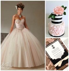 Blush Pink and Black Color Combos | Quinceanera Ideas |