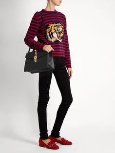 Sylvie large leather shoulder bag   Gucci   MATCHESFASHION.COM US