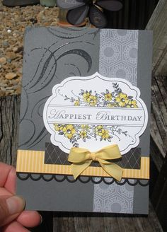 Love the gray and the yellow.    DS42 by Joho - Cards and Paper Crafts at Splitcoaststampers