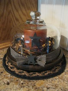 Candle Cheese Tray https://www.facebook.com/pages/Primitive-Country-Treasures/100991083354848