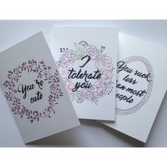 Handmade greeting cards #cards #foraldrawing #fineliner #quotes #greetingcards