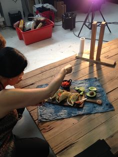 Naomi Crisante our food stylist making everything look as delicioso and beautiful as possible #taco #photography #foodstyling #salsa #fresh #delicioso #Mexican