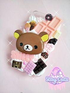 Rilakkuma and chocolate decoden case