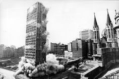 Implosion of Mendes Caldeira Building in 1975 Sao Paulo - Brazil