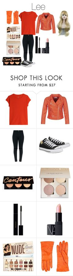 """""""Lee from Disney's Gravity Falls"""" by tori-camilleri on Polyvore featuring ONLY, Topshop, Gucci, NARS Cosmetics, P.A.R.O.S.H. and WithChic"""