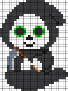 Beanie Boo Grimm Perler Bead Pattern / Bead Sprite