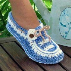 Sapatos de Crochê, como fazer - Inspiração, tutoriais e referências em Crochet…