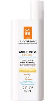 La Roche Posay Anthelios Mineral Ultra Light Sunscreen Fluid SPF 50. La Roche Posay is the HOLY GRAIL of sunscreen...I just wish the European Mexoryl-based formulas were available in higher SPFs in US stores! $31 #beauty, #skincare, #sunscreen