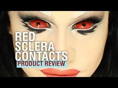 Red Sclera Contact Lenses - Product Review - pinkyparadise.com - YouTube
