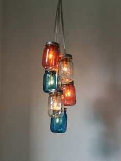 Forget the 4th of July... We want this clustered chandelier hanging in our homes all year!