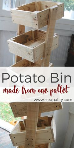 Potato Bin Made from