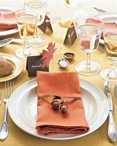 Basteln Naturmaterialien Herbst Tischdeko