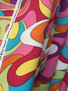 Mod Vibrant psychedelic Cotton Fabric Pucci style by goodluxe
