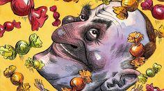 An image of Prime Minister John Key by cartoonist Anna Chrichton