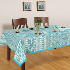Buy serene motif table cover, designer dining room table covers online from saavra.com &give a classy and spacious vibe to your dining arrangements. Free Shipping & COD Available.