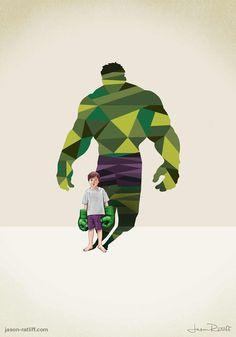 Des enfants avec des ombres super héro  Dessein de dessin