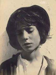 Teenager in Black Hat, Sicily, c. 1916
