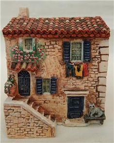 CARLTON DOMINIQUE GAULT 3 x MINIATURE HOUSES - FACADE, LA MASON AU CHAT, POSTE…
