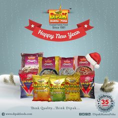 May you get succeed in the year 2016 and achieve all your goals you have set.  #wish #Happy #NewYear #DipakFoods #Dipak #Mamra #Poha #PuffedRice