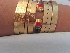 Gold mix bangles