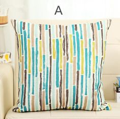 blue and gray striped graffiti throw pillows for couch cheap cushions