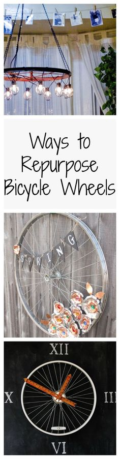 These ideas for repurposing and upcycling bicycle wheels will have you spinning.