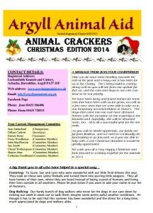 pick up your Argyll Animal Aid Christmas Newsletter 2014