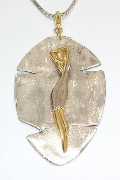 Besteck Kettenanhänger Jungfrau gold-silber A117 von Atelier Regina auf DaWanda.com
