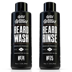 Wild Willies Beard Wash and Conditioner Bundle Packed with Organic Oils and Nutrients to Shampoo and Soften Your Beard while Peppermint  Eucalyptus Leave An Incredible Tingle Proudly American Made * More info could be found at the image url.