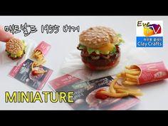 폴리머클레이 맥도날드 1955버거 미니어쳐 mcdonalds burger miniature food polymerclay - YouTube