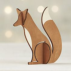 View larger image of Laser-Cut Wood Fox