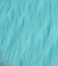 Fashion Faux Fur Fabric-Teal