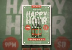 Vintage Happy Hour by lilyshop on @creativemarket