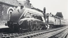 4482 Golden Eagle - Peterborough going north - 1937 (from Sir Nigel Gresley on Facebook - Lee Pogson)