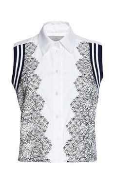 619ad82b24f Cotton Shirting And Lace Trevor by Preen by Thornton Bregazzi Now Available  on Moda Operandi
