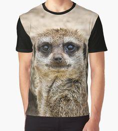 'Meerkat' Graphic T-Shirt by Vicki Field