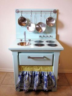 Nightstand into a play kitchen - I have two old ones from Ikea I could use!
