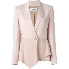 Chalayan sculptured jacket ($880) ❤ liked on Polyvore featuring outerwear, jackets, pink, pink jacket, pale pink jacket and chalayan