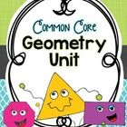 This geometry unit contains hands-on activities, sorts, worksheets, graphic organizers, and games!  There is also a geometry vocabulary journal that can be made into a vocabulary book.  $