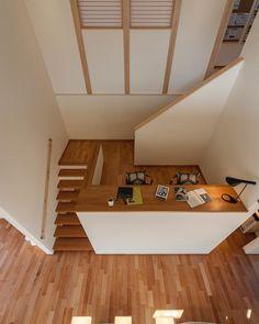 Home Room Design, Home Office Design, Home Interior Design, Interior Architecture, Narrow House Designs, House Construction Plan, Casa Loft, Interior Stairs, House Blueprints